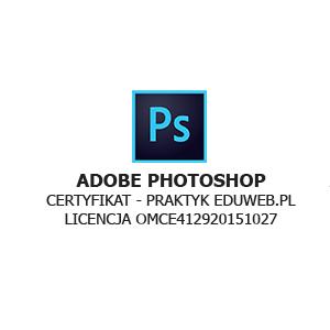 certyfikat adobe photoshop